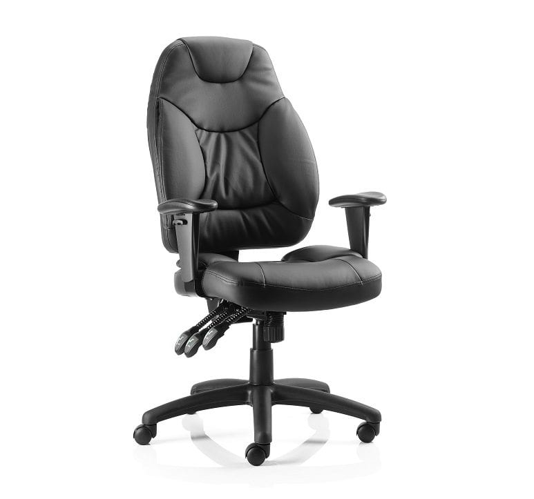 Large Deluxe Leather Task Chair  sc 1 st  Penningtons Office Furniture & Large Deluxe Leather Task Chair - Penningtons Office Furniture