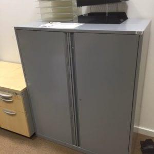 grey double door cupboards