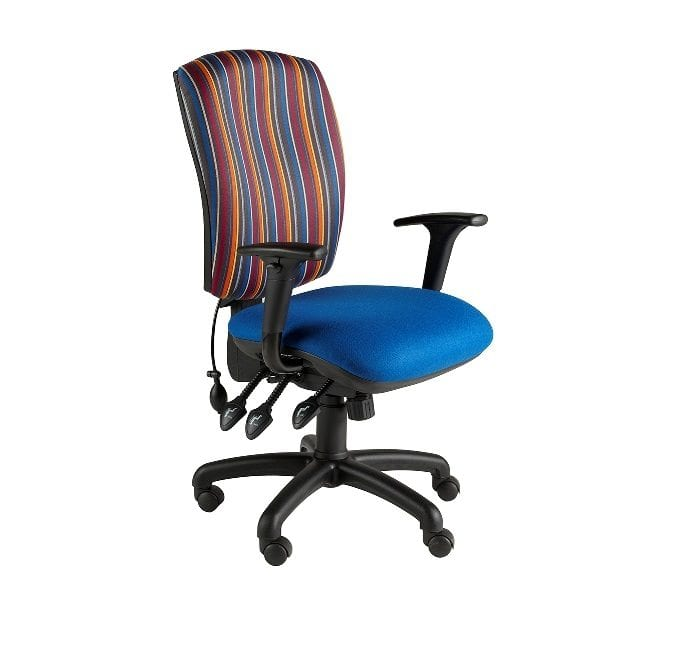 High Square Back Task Chair With Adjustable Arms
