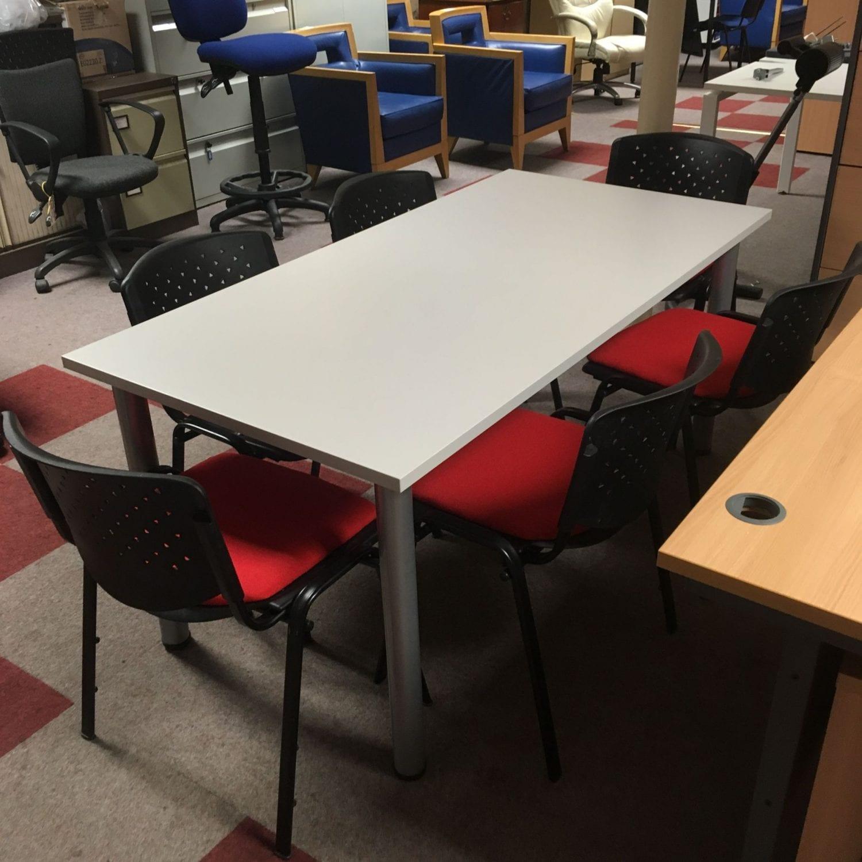 54 Altra Furniture Pursuit Executive Office Desk White