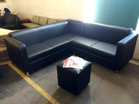 Refurbished Large Corner Reception Sofa
