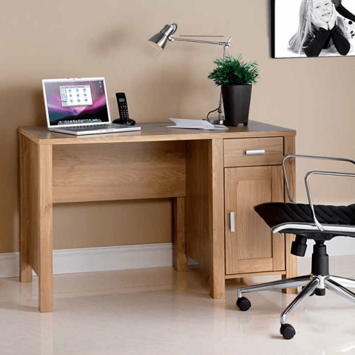 Traditional Style Oak Effect Computer Desk Penningtons Office Furniture